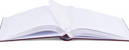 Binding & page detail, burgundy Memory album