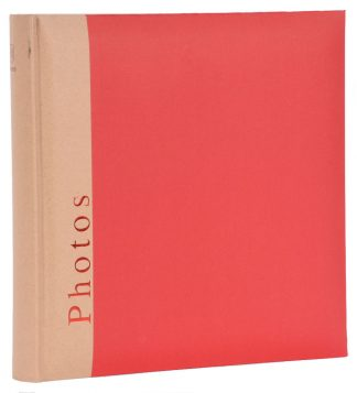 red photo album 30 x 31cm white pages 5000603