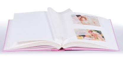 Steps pink baby album inside pages, 20.054.12