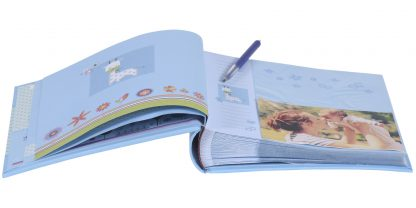 Pages - Baby Moments blue baby slip-in album, 98.406.07