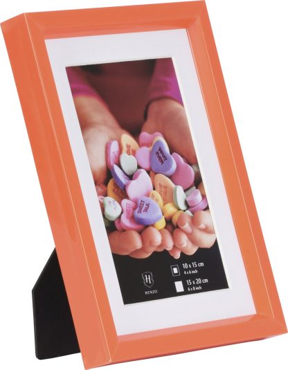 Orange Fresh Colour Frame, 15x20cm Stand
