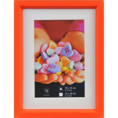 Orange Fresh Colour Frame, 15x20cm (10x15cm Prints)