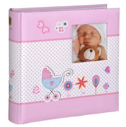Baby Moments pink memo slip-in album, 98.406.12