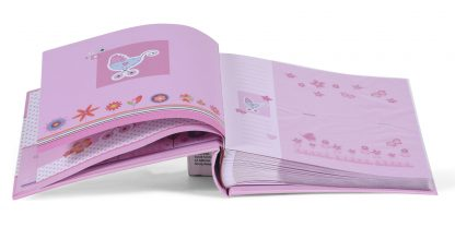 Pages - Baby Moments pink baby slip-in album, 98.406.12